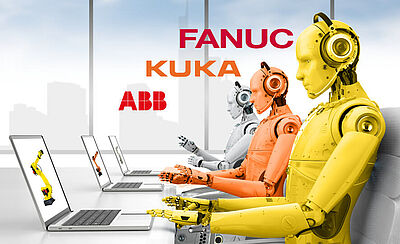 In addition to robot teach pendants, BVS is now offering all modules for robot systems of ABB, KUKA and FANUC - BVS Industrie-Elektronik